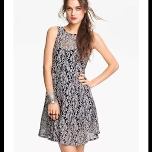 Free People Art To Wear Miles of Lace Grey Dress